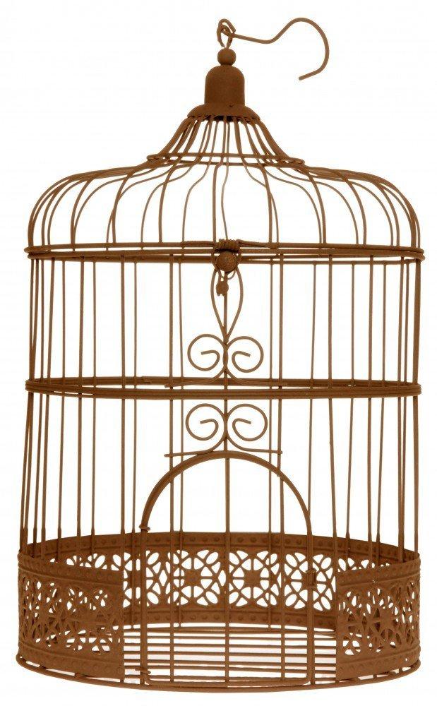 Geschenke- Brief- Geldbox Vogelkäfig Rost