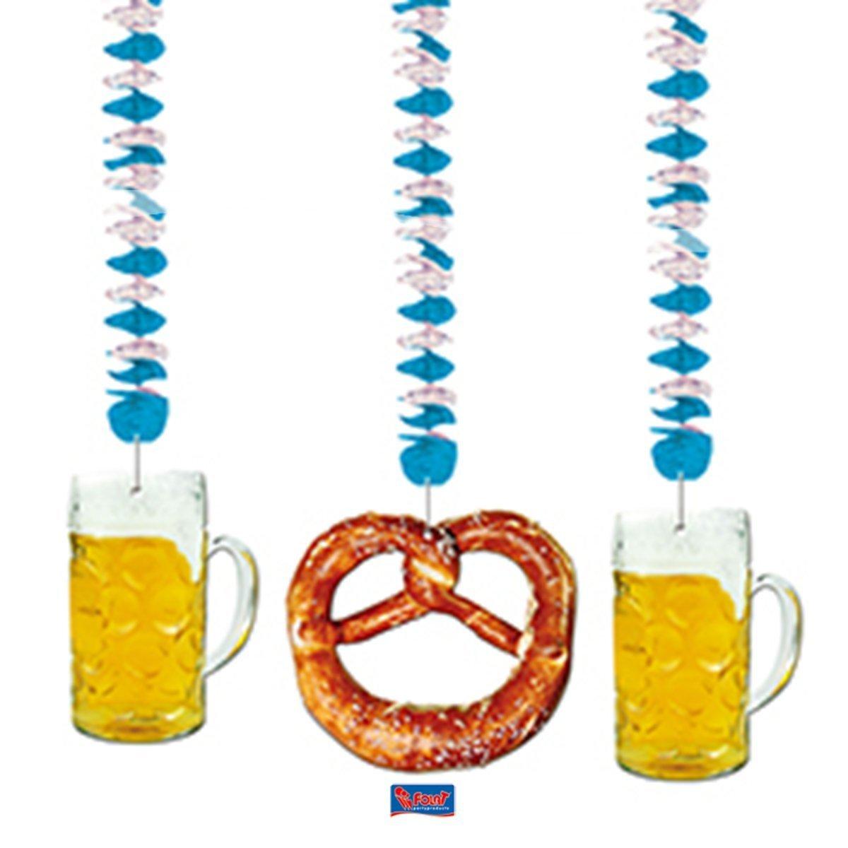 Hänge Dekoration Girlande Bayrische Rotorspirale 3-erPack