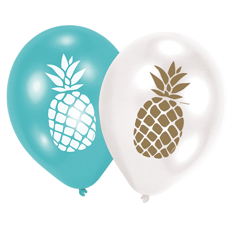 "6 Luftballons *Pineapple Vibes"" ANANAS  Hawaii von Amscan"