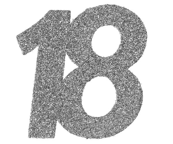 18. Geburtstag Party Konfetti in silber