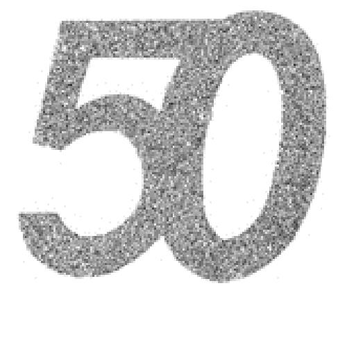 50. Geburtstag Konfetti silber