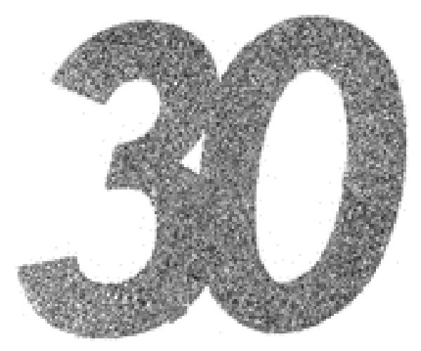 30. Geburtstag Konfetti silber