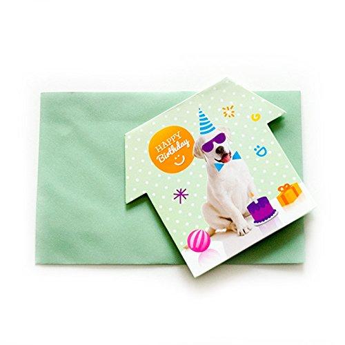 """Trendy Dog """"Happy Birthday"""" Party Einladungen"""