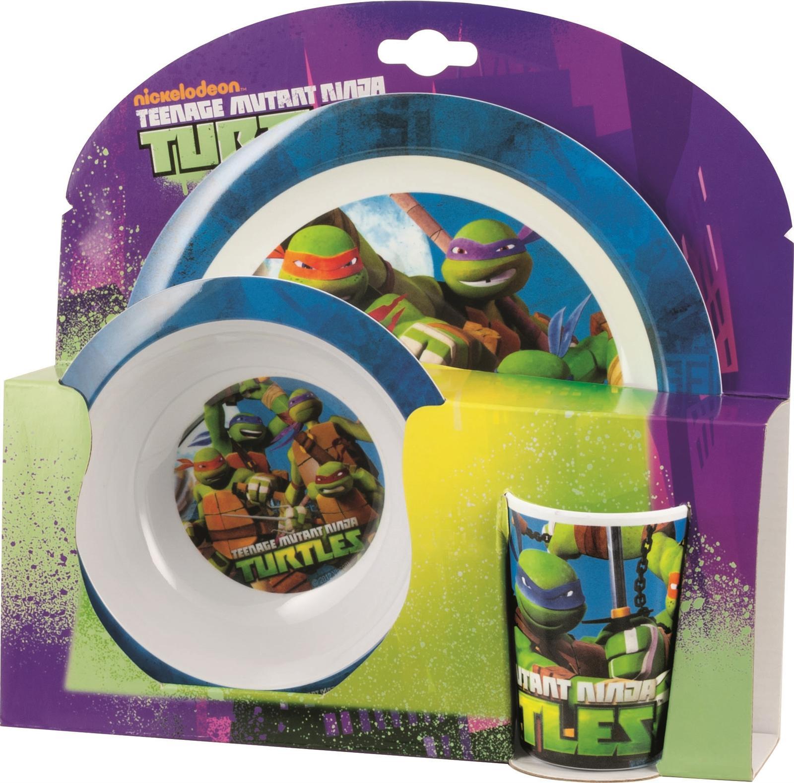 Ninja Turtles Kinder Geschirr Teller Schüssel Becher