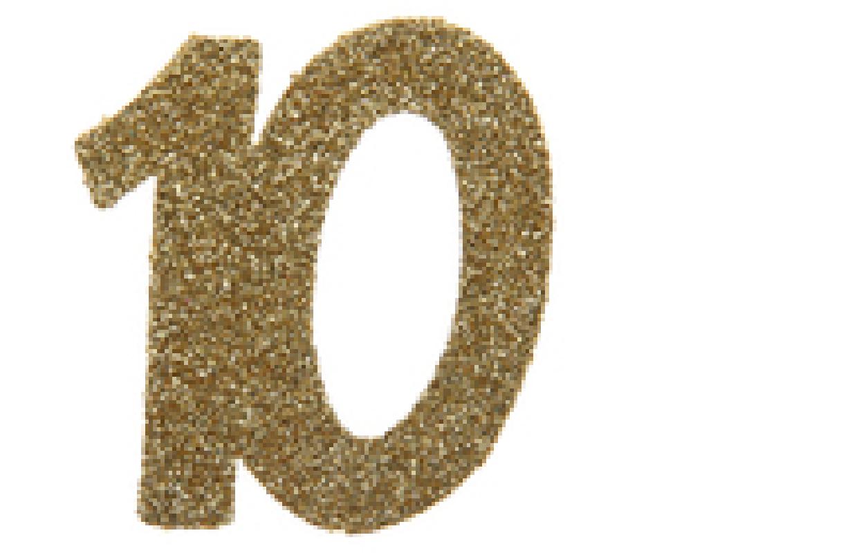 XL Geburtstag Konfetti 10 Jahre Santex gold