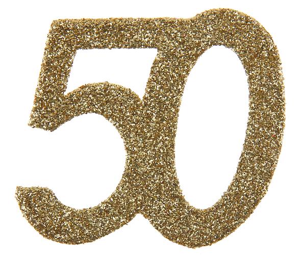 XL Geburtstag Konfetti 50 Jahre Santex gold