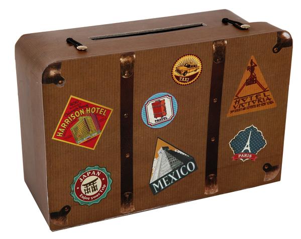 """Geschenke- Geldbox Koffer """"Ich gehe auf große Reise"""""""