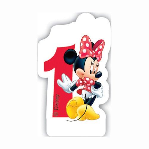 Playful Minnie Mouse 1. Geburtstag Zahlenkerze Geburtstagskerze