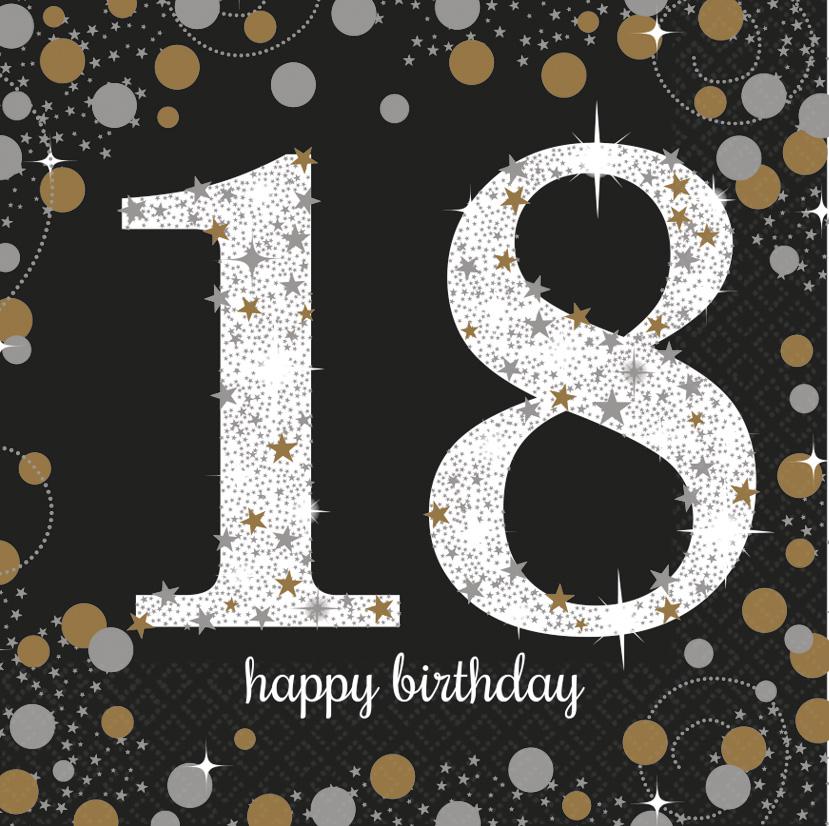 18. Geburtstag Party Servietten schwarz gold