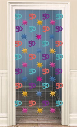 50. Geburtstag Party Türvorhang bunt