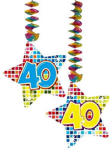 40 Jahre Geburtstag Deko Swirl Girlande Folat