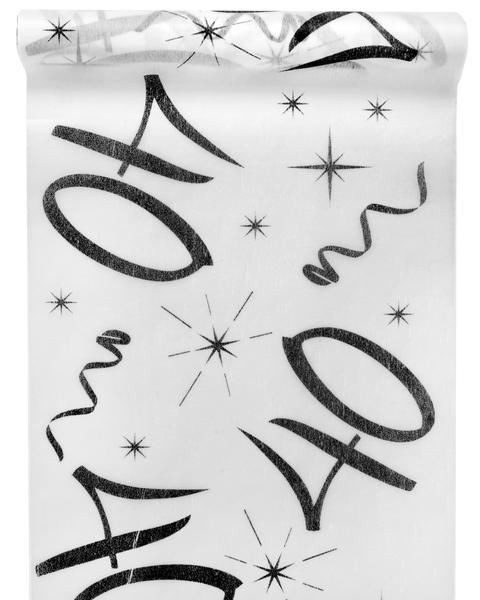 40. Geburtstag Party Tischband schwarz weiß