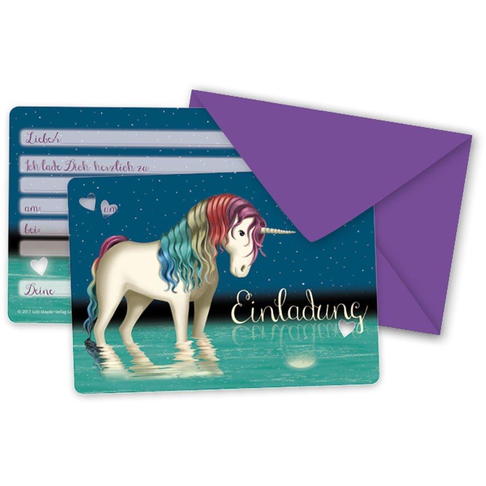 Party Einladungskarten Einhorn Tapir Ella von Lutz Mauder