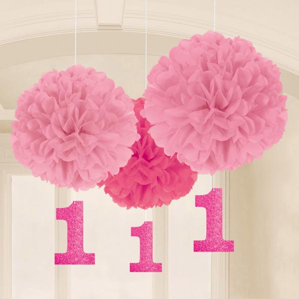 1. Geburtstag Fluffy Dekoration Mädchen