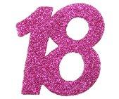 18. Geburtstag Party Konfetti in rosa