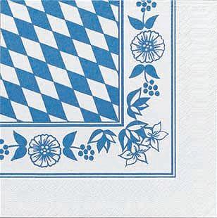 50 Zelltuch Servietten bayrische Raute 33 x 33 cm von Duni