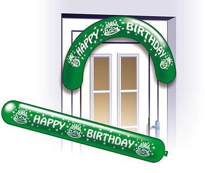 2 Happy Birthday Banner Luftballons
