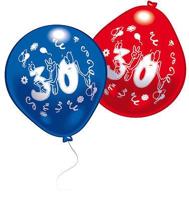 30. Geburtstag Luftballons Zahlenballons