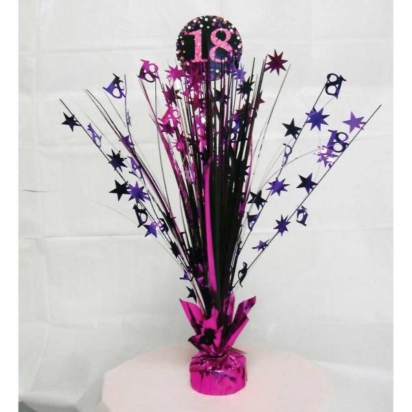 18. Geburtstag Party Tischmittelpunkt schwarz pink