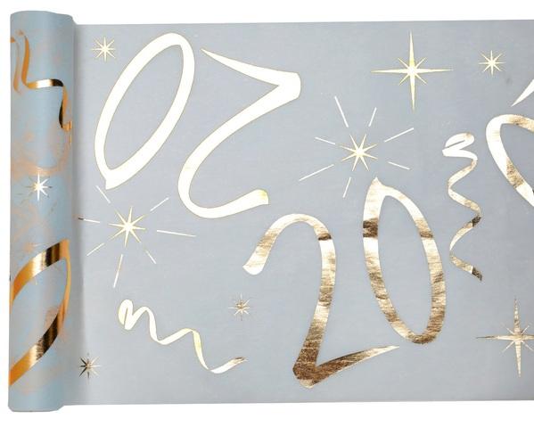 20. Geburtstag Party Tischband gold weiß