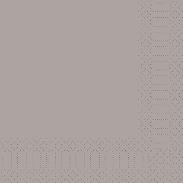 250 Duni Zelltuch Servietten greige 33 x 33 cm