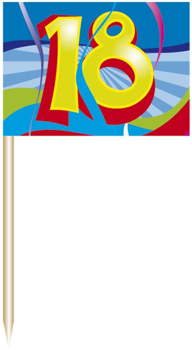 18. Geburtstag Party Picker / spieße mit Fahne von Folat