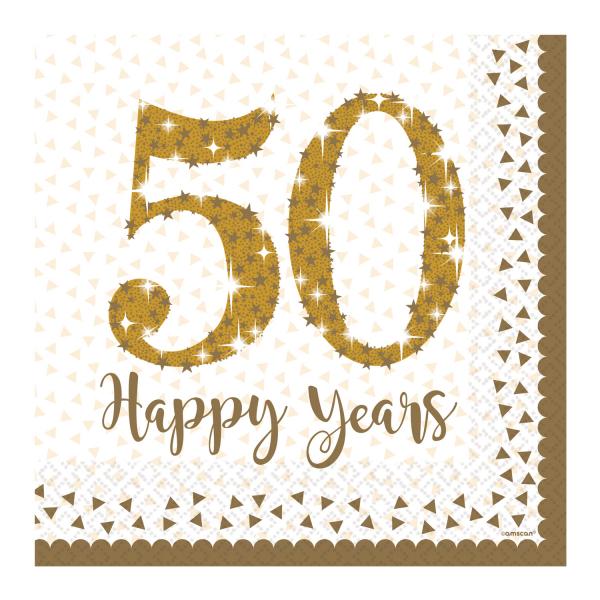 Goldene Hochzeit Party Servietten 50 Happy Years