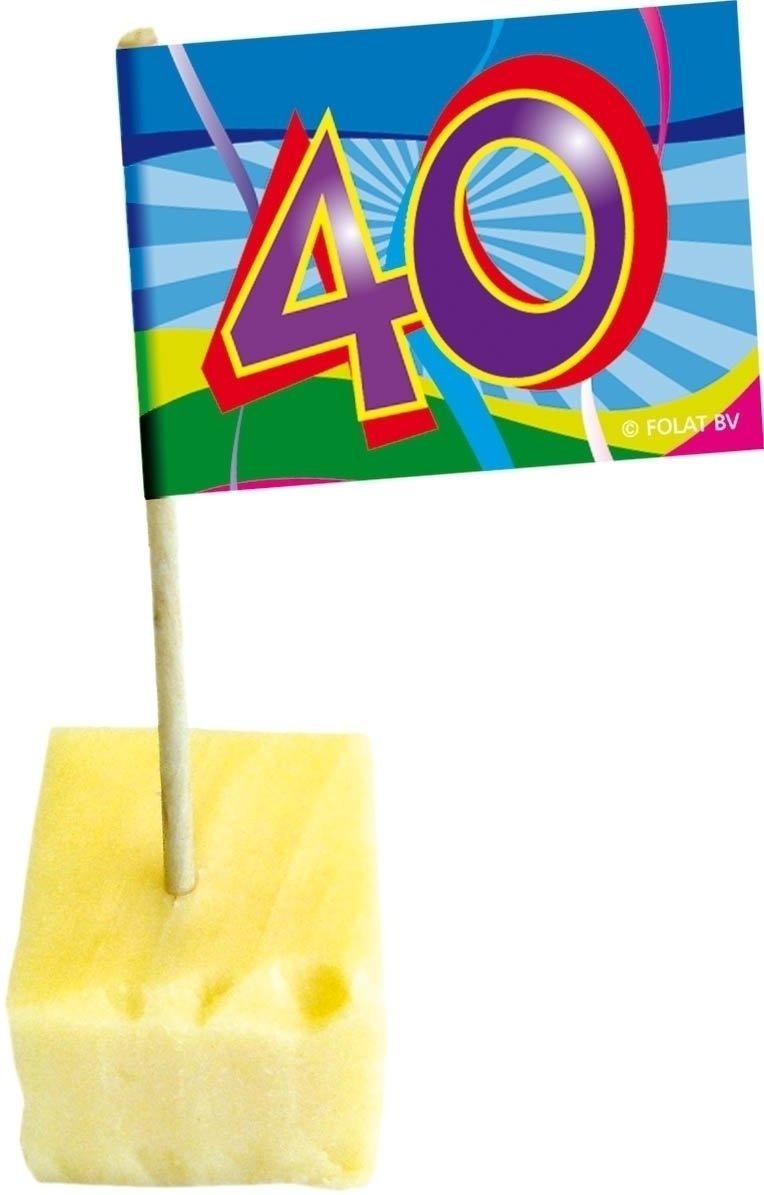 40. Geburtstag Party Picker / spieße mit Fahne von Folat