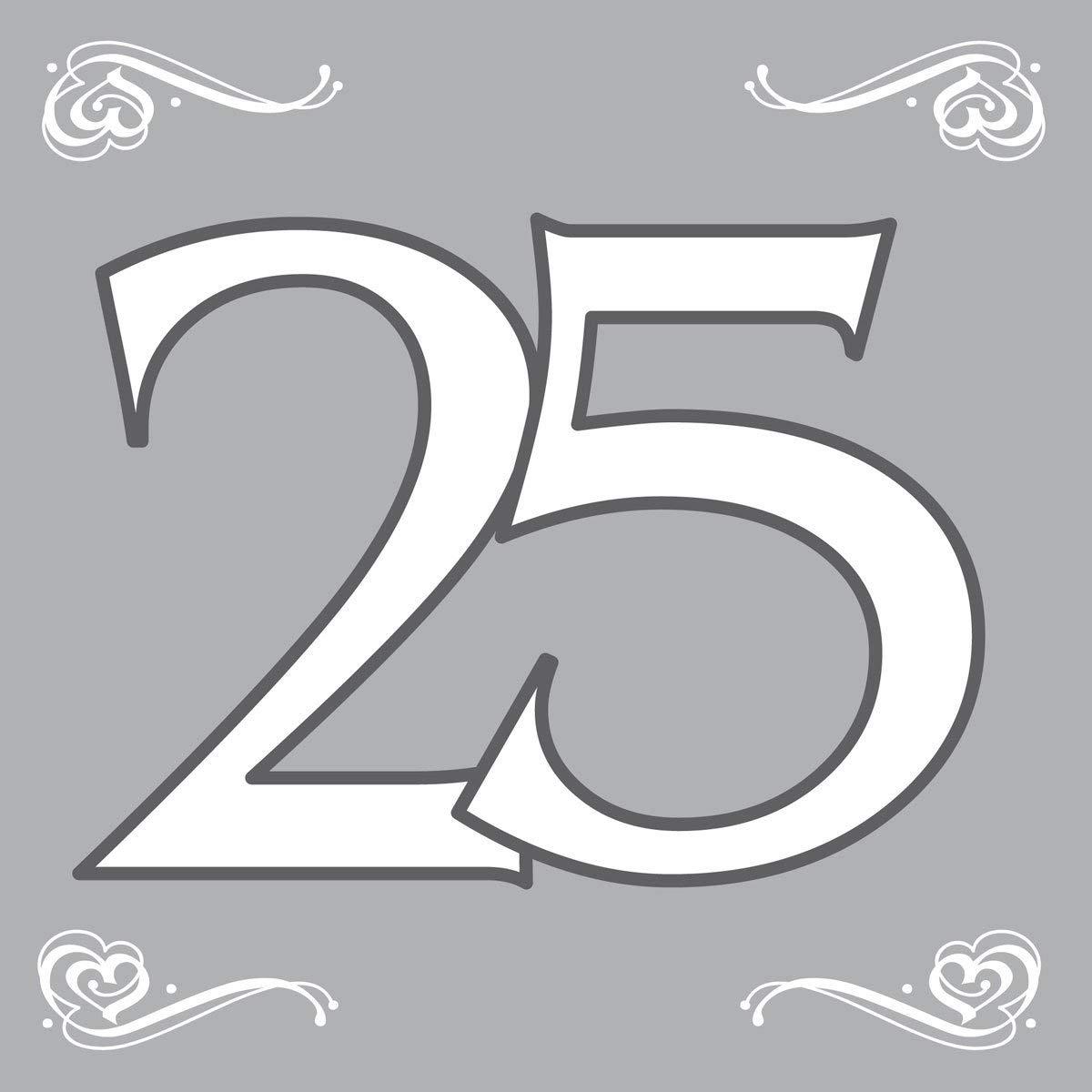 Party Servietten zur silbernen Hochzeit 25 von Folat