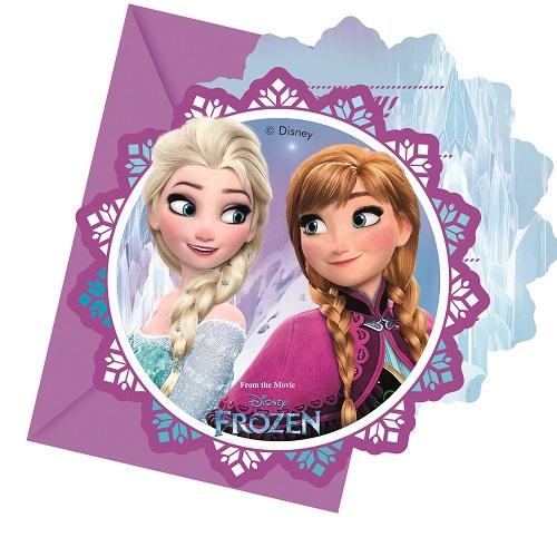 Frozen die Eiskönigin Nord Lichter Party Einladungen
