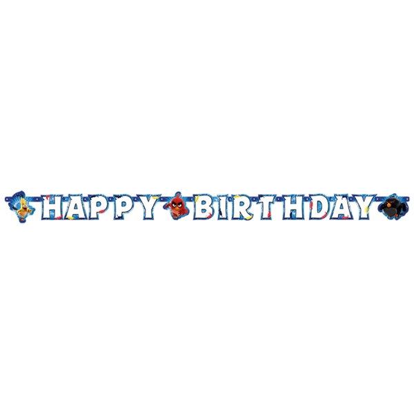 Angry Birds Party Girlande Happy Birthday zum Kinofilm