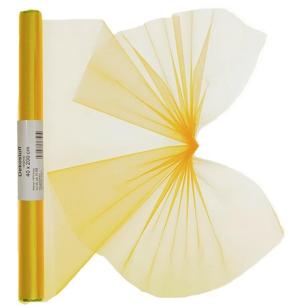 Dekostoff Organza gerollt 40 x 200 cm gelb