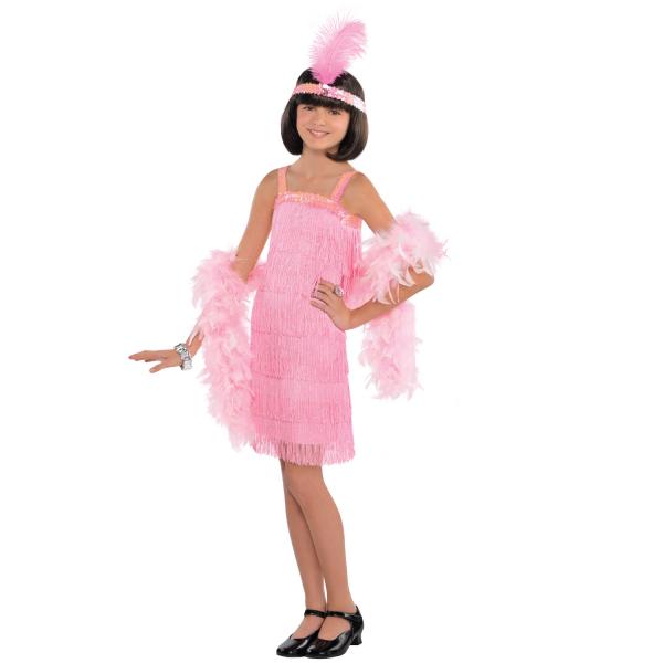 "Kinder Kostüm Mädchen ""Pink Flapper"" Gr.: 116 - 134 cm 6 - 8 Jahre"