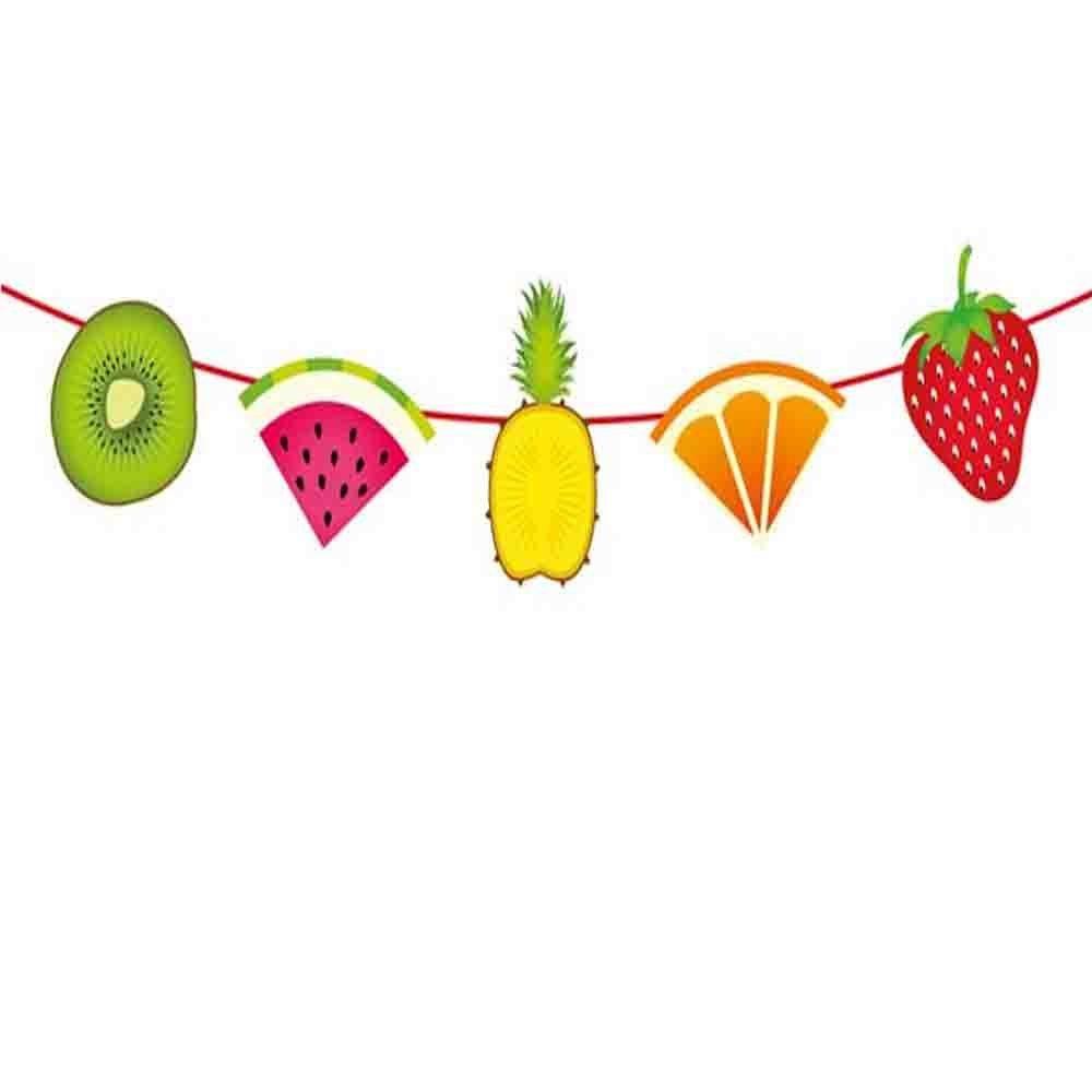 Party Girlande Wimpelkette tropische Früchte 6 m