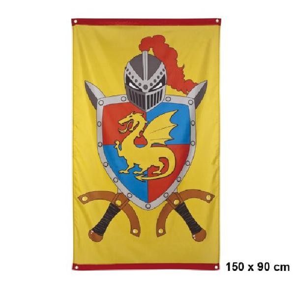Riesen Ritter Fahne für die Ritterparty 150 x 90 cm
