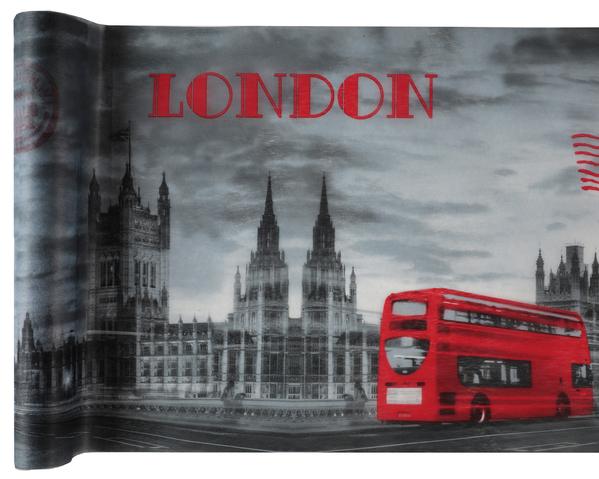 Party Tischband Tischläufer London 30 cm x 5,00 m