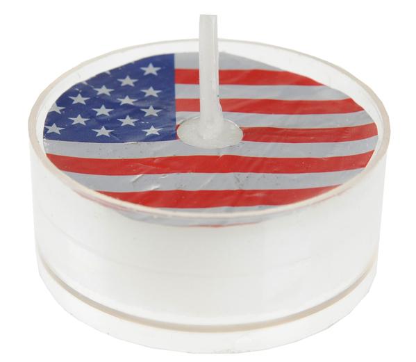 Teelichter Teelicht Amerika 4 Stück