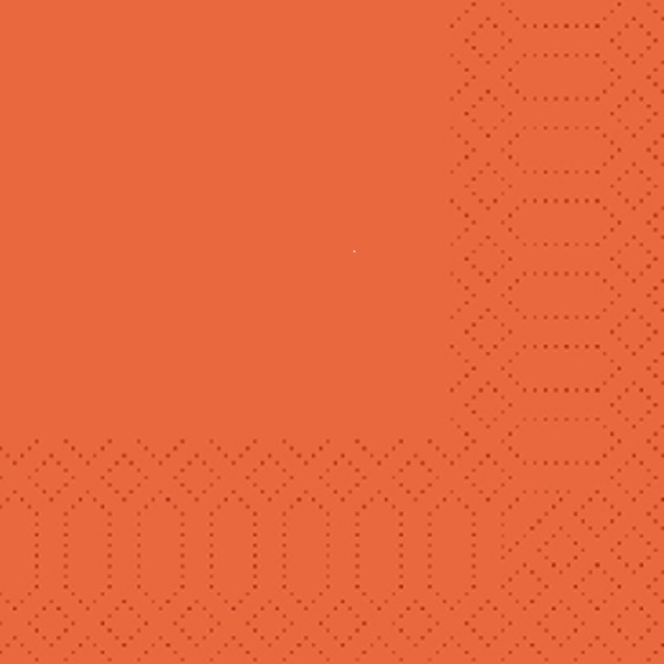 250 Duni Zelltuch Servietten orange 3 lagig 1/4 Falz 24x24 cm