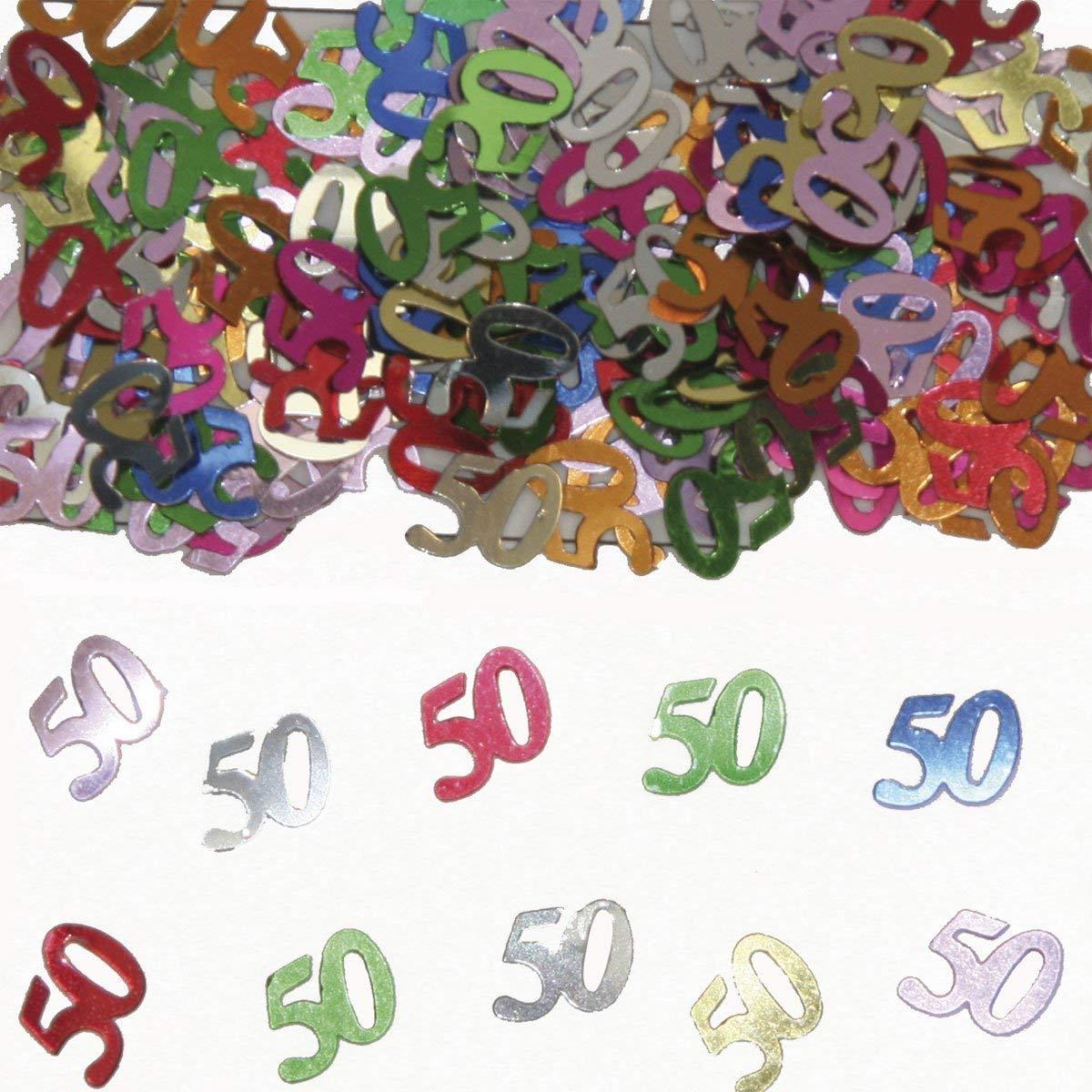 Party Konfetti Streudekoration zum 50igsten Geburtstag