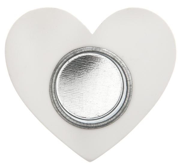 Teelichthalter einfach mit Liebe Herz weiß