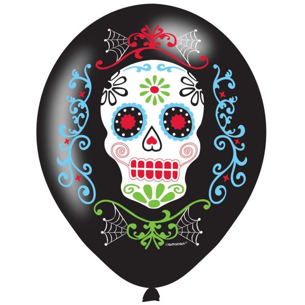 """Halloween """"Der Tag der Toten"""" Party Luftballons"""