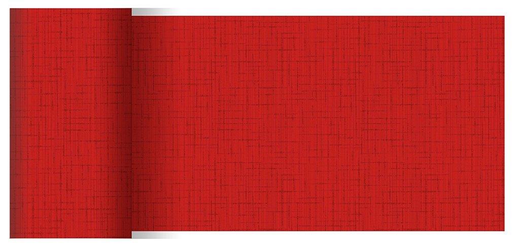 Duni Tischbänder Linnea rot 0,15 x 20,00 m