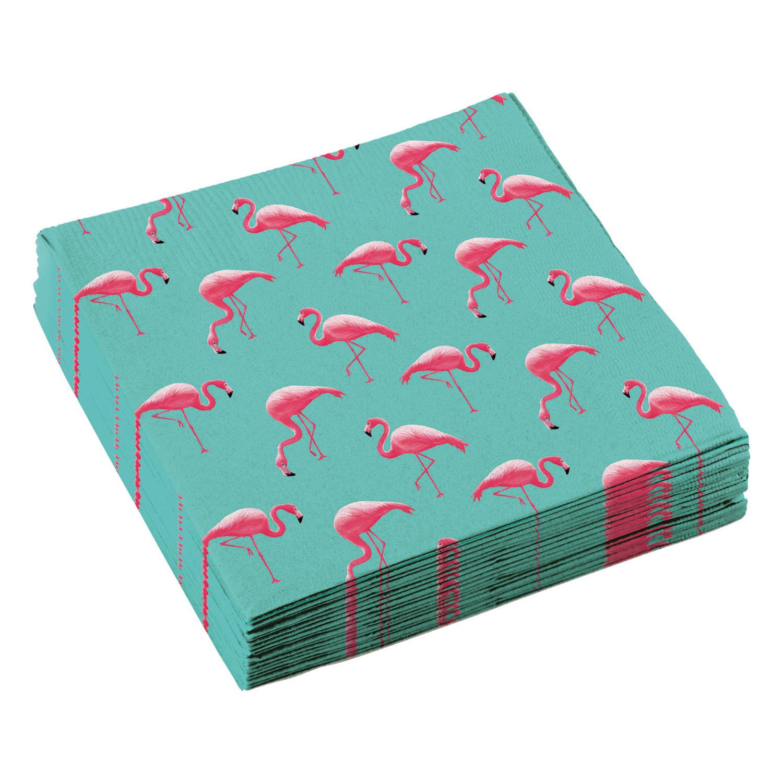 20 Flamingo Party Servietten 33 x 33 cm von Amscan