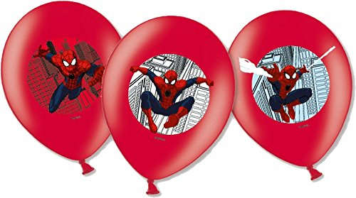 Spiderman Party Luftballons 6 St. Helium geeignet