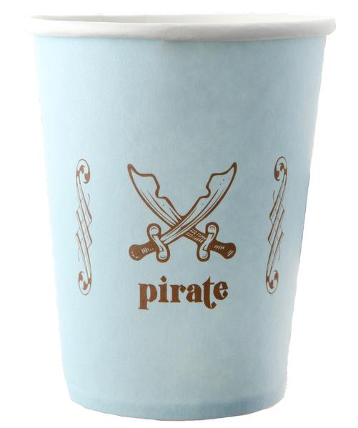 blau wie das Meer Piraten Party Becher