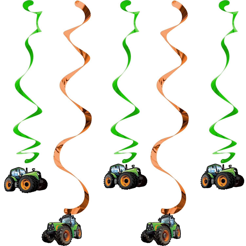 Traktor Party Swirl Girlanden