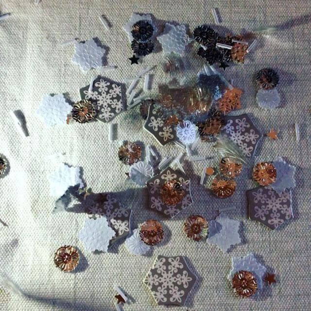 Tisch Konfetti Schneeflocken 3teilig