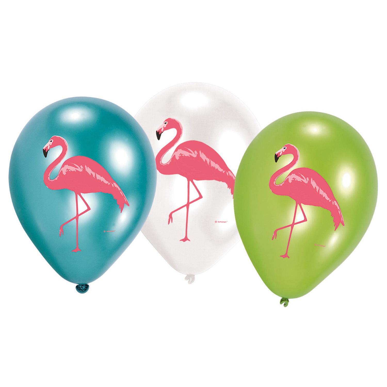 6 Luftballons Flamingo Paradise  Hawaii von Amscan