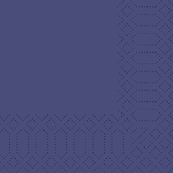 250 Duni Zelltuch Servietten dunkelblau 3 lagig 1/4 Falz 33 x 33 cm
