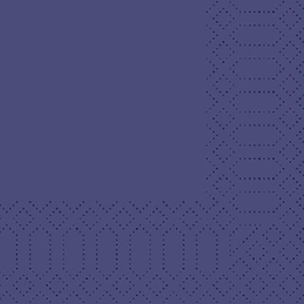250 Duni Zelltuch Servietten dunkelblau 3 lagig 1/4 Falz 24x24 cm